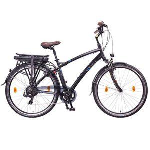 NCM Hamburg 2016,28 Zoll Elektrofahrrad Herren/Damen Unisex Pedelec,E-Bike,Trekking Rad, 36V 250W 14Ah Lithium-Ionen-Akku mit PANASONIC Zellen, matt schwarz - 2