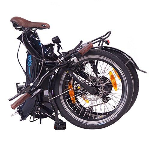 NCM Paris 2016, 20 Zoll Elektrofahrrad,E-Faltrad,E-Bike,Pedelec,Klapprad,36V 250W Bafang Motor, 36V Li-Ion Akku mit 14Ah PANASONIC Zellen,weiß,silber,dunkel blau,schwarz (Blau) - 6