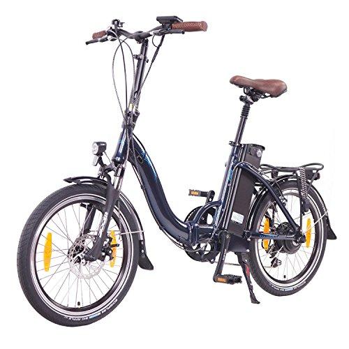 NCM Paris 2016, 20 Zoll Elektrofahrrad,E-Faltrad,E-Bike,Pedelec,Klapprad,36V 250W Bafang Motor, 36V Li-Ion Akku mit 14Ah PANASONIC Zellen,weiß,silber,dunkel blau,schwarz (Blau) - 2